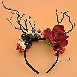 Sen foto rami fiori grandi archetto Natale palchi accessori per capelli incontro annuale divertente passerella in stile stage archetto A
