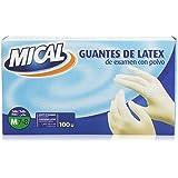 Mical - Guantes de latex de examen con polvo - talla M / 7-8