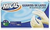 Mical Guantes de Latex de Examen con Polvo, talla M - 1 Unidad