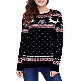 Christmas Maglione Pullover Maglione Eleganti Natalizio da Famiglia Maglieria Manica Lunga Moda Abbigliamento Ragazze Maglia Tops Felpe Knit Maglietta Cardigan NBAA