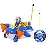 TONOR RC Control Remoto Juguete de Avión Infantil con Luces y Música Juguete Electrico para Bebés y Niños