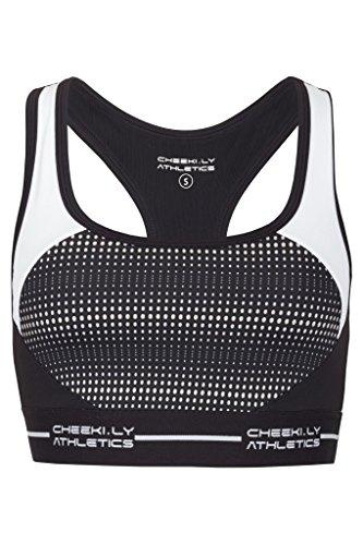 CHEEKI. LY ATHLETICS Damen Bal Habour Sport Top und BH, Black, S (Bras Bali-support)