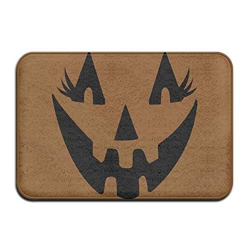UYTGYUHIOJ Halloween Girl Non-Slip Indoor/Outdoor Door Mat Rug for Health and Wellness Kitchen Hallway Bath Office Bathroom Doormat 23.6