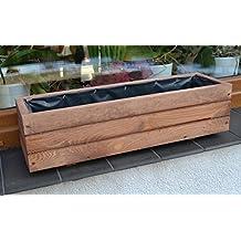NUEVO Jardinera de acero madera Top Macetero Jardín Terraza montado D6nogal