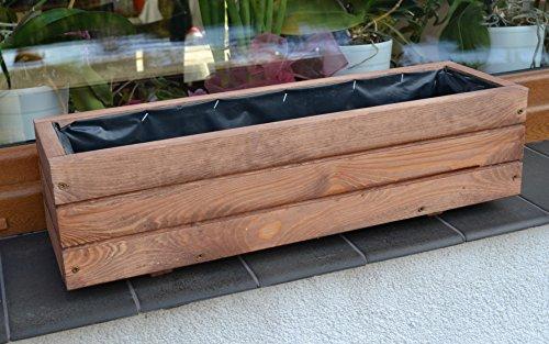 D6 Jardinière en bois pour jardin, terrasse Montée Noix Länge 60cm