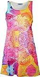 Guru-Shop Psytrance Minikleid, Longtop, Damen, Flower Power Mandala, Baumwolle, Size:36, Kurze Kleider Alternative Bekleidung