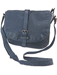 Ledertasche 'Gianni Conti'marineblau vintage - 30x24x4 cm.