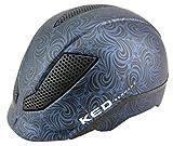 KED Pina Cycle&Ride Reithelm Blue Black Matt, Größe S (50-53cm), Radhelm, überragender Tragekomfort, Cycle&Ride zertifizierter Helm von KED, Made in Germany