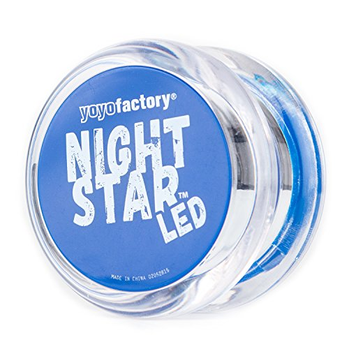 YO-YO NIGHTSTAR LED LIGHT UP YOYO BY YOYOFACTORY - AZUL (ACCENDE YOYO  CUSCINETTO  TRUCCHI  IDEALE PER I PRINCIPIANTI)