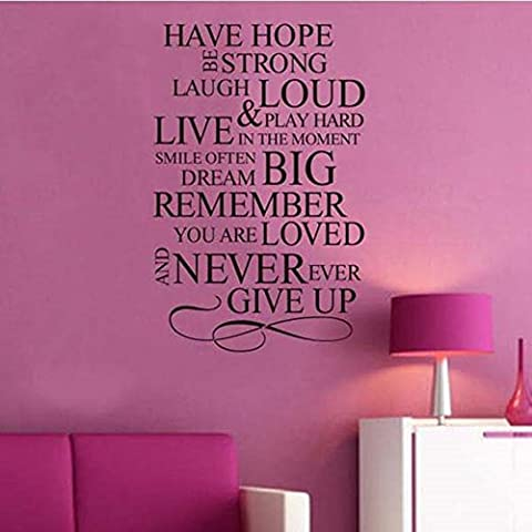 Have Hope Inspirational Quote Vinyl Sticker Wall Art Lounge Bedroom