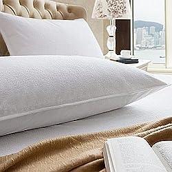 Linenwalas Waterproof and Dustproof Pillow Protectors Set of 2 Pcs