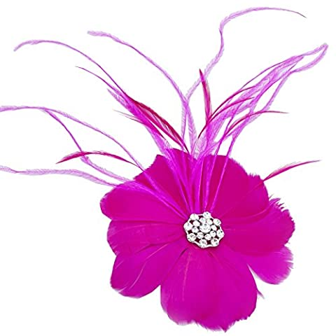 Janeo Small Fascinator & Brooch Pin in One Royal Damask