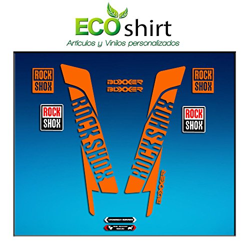 Orange Gabel (Ecoshirt 9A-CXNZ-9FVV Aufkleber Sticker Fork Rock Shox Boxxer Am45 Aufkleber Decals Autocollants Adesivi Forcela Gabel Fourne, Orange)