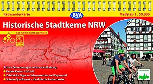 Kompakt-Spiralo BVA Historische Stadtkerne NRW, 1:50.000, mit GPS-Track-Download: Auf 390 km durch Westfalen