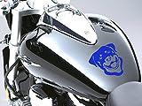 Rottweiler Motorrad Fuel Tank Aufkleber Auto Aufkleber 100mm x 110mm–Blau