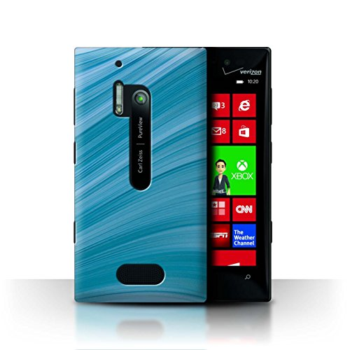 Stuff4 Hülle / Case für Nokia Lumia 928 / Abstrakte Welle Muster / Teal Mode Kollektion (Nokia Lumia 928 Case Blau)