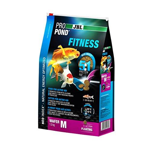 JBL Futter für aktive Koi, Schwimmende Futterwafer, Spezialfutter, ProPond Fitness, Größe M, 1,3 kg