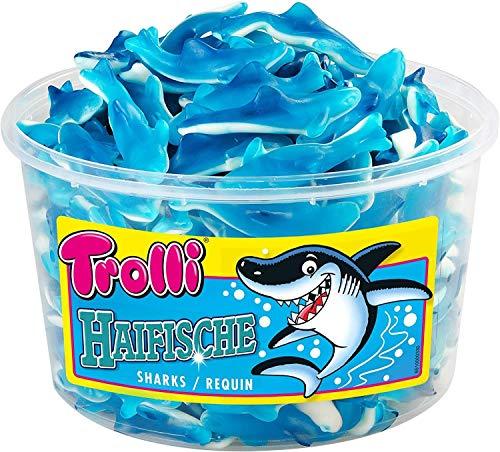 Trolli - Haifische - Schaumgummi - Fruchtgummi - Box - 1,2 kg