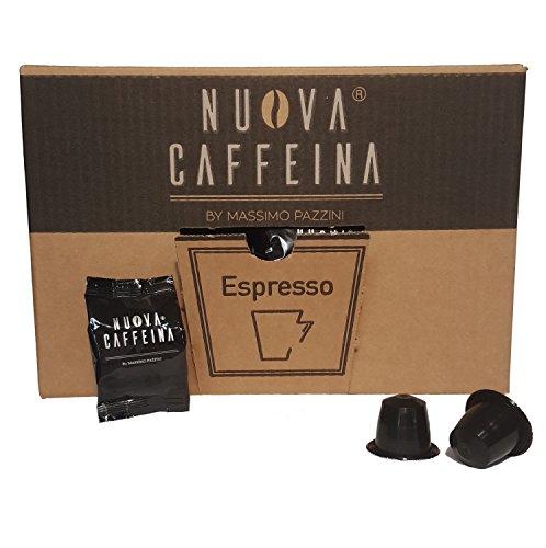 Nuova Caffeina, produzione artigianale - Miscela Black Confezione da 100 capsule compatibili NESPRESSO