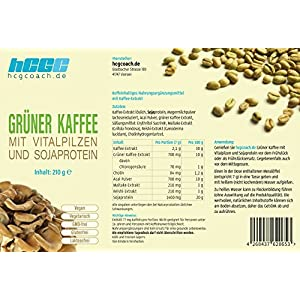 Grüner Kaffee mit Vitalpilzen und Sojaprotein