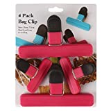 #9: Akrobo Bag Clips Of 2 Sizes For Quick and Easy Re-Sealing Of Opened Food Bags (Random Colors)-Pack of 4
