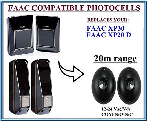 FAAC XP30, FAAC XP20D Lichtschranken Infrarot kompatibel, 12-24V n.c-com-n.o Photocells Liftmaster Security Gate