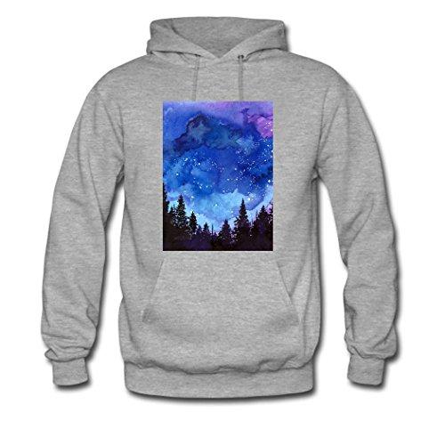weileDIY Stars DIY Custom Women's Printed Hoodie Sweatshirt Gray_B