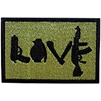 Cobra Tactical Solutions Embroidery Patch Love AK with Hook & Loop for Cosplay/Airsoft / Paintball