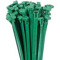 100 Stk Profi Kabelbinder 4,8 x 380mm wiederverwendbar lösbar wiederlösbar grün