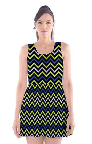 CowCow Damen Kleid Violett Violett Yellow and Black