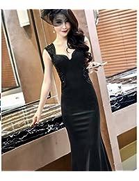 ce627adf3f WCZ Vestido de Dama de Honor de Banquete Vestido de Fiesta con Cuentas  Cheongsam de Mujer
