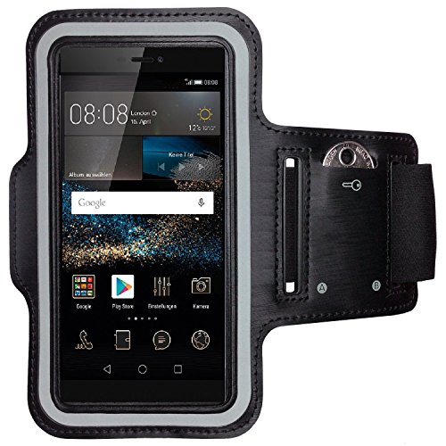 CoverKingz Armtasche für Huawei P8 Sportarmband mit Schlüsselfach, Laufarmband Sport, Handy Armband Schwarz