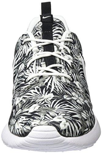 Nike Roshe One Print Prem, Chaussures de Sport Homme, Bleu Blanc Cassé - Blanco (Black / White)