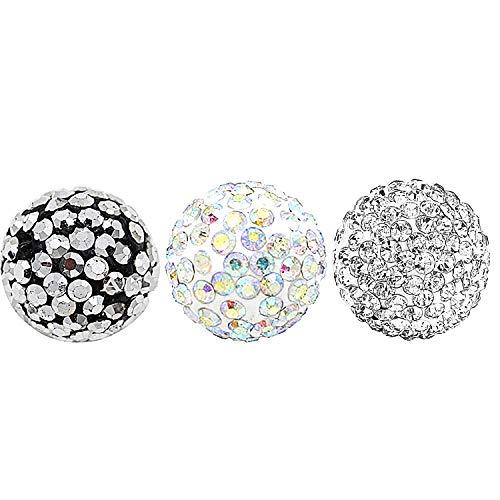 AKKi jewelry Damen 3 Engelskugel Engel-Kette-rufer Klangkugel Ø 14 mm in Schmuckbeutel zur Farbauswahl für Halskette Ornament Anhänger Grau