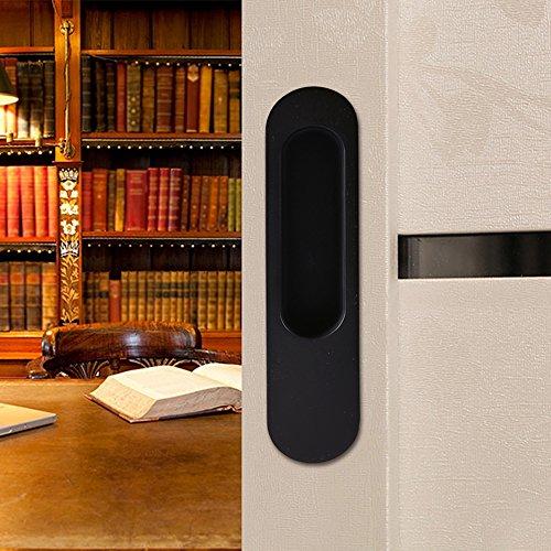 Ccjh invisible Poignée de porte pour porte coulissante en bois Grange meubles matériel noir