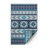 Fab Hab Hab - Cusco - Blau - Teppich/Matte fŸr den Innen- und Au§enbereich (150 cm x 240 cm)