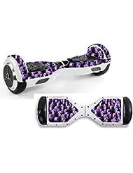Adhesivo para patinete de equilibrio, diseño de minions morados hov20