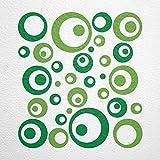 WANDfee® Wandtattoo Kreise Punkte 50 Aufkleber Wandaufkleber Kinderzimmer Wohnzimmer Flur Fliesenaufkleber Bad Badezimmer Küche