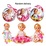 1 Unid Divertido Extraíble Clear Ball Doll Toy Lovely Girls Ropa...