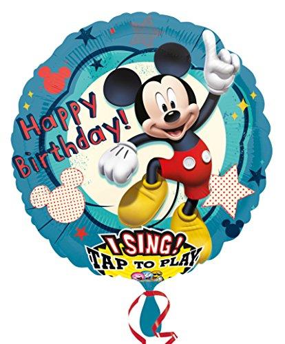 Kostüm Mouse Fantasia Mickey - Amscan 2349101 Folienballon Sing A Tune Micky Maus Geburtstag