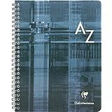 Clairefontaine 8998C Répertoire à spirale 180 pages grands carreaux couverture pelliculée 90 g 17 x 22 cm Couleur Aléatoire