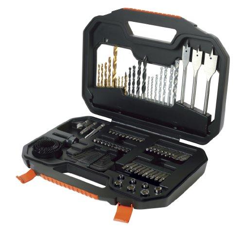 Preisvergleich Produktbild Black+Decker Bohrerset (100-teilig Schrauberbits/klingen/Bohrer verschiedener Materialen/Stecknüsse/Lochsägen/Imbus) A7187