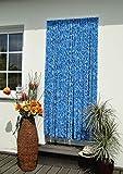 Türvorhang Flauschvorhang Flauschi Chenille 90x200 blauweiss
