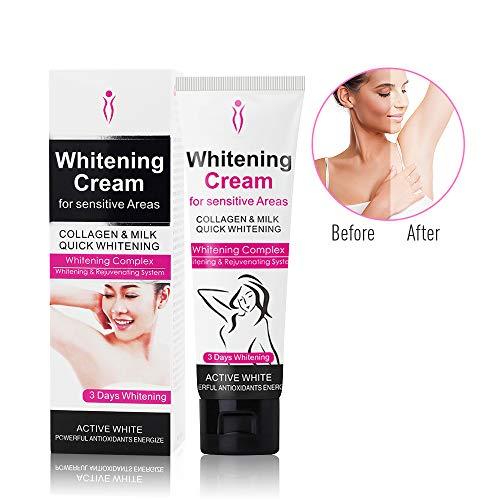 Whitening Cream, Duvina Body Cream für dunkle Haut, Hals, empfindliche Bereiche, Ellenbogen, innere Oberschenkel, Knie Körper Achselhöhle Creme Haut Beauty Whitening Hautpflege -