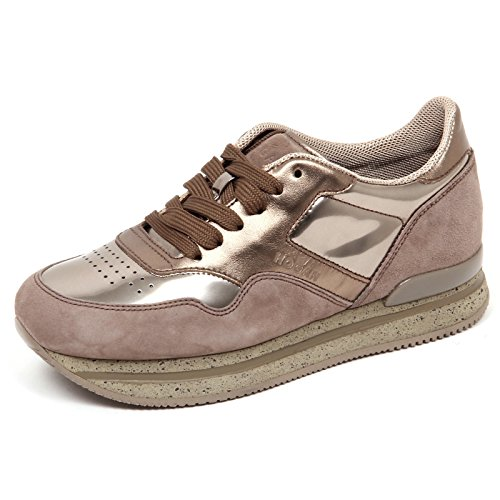 Hogan e0266 sneaker donna h222 marrone chiaro/argilla shoe woman [36]