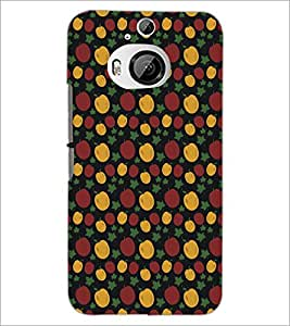 PrintDhaba Pattern D-5374 Back Case Cover for HTC ONE M9 PLUS (Multi-Coloured)