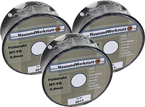 Fülldraht 3 Rollen x 0,9mm 0,8 Kg für Güde Rowi u.a.