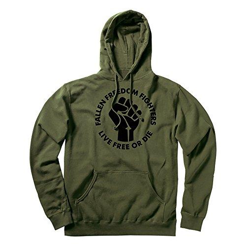 Fallen Herren Sweat Freedom Fighter Hood Kapuzenpullover heather surplus green/Black