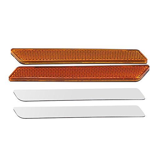 Qiilu QL05512 Coppia di catenacci rigidi per portabagagli (Orange)