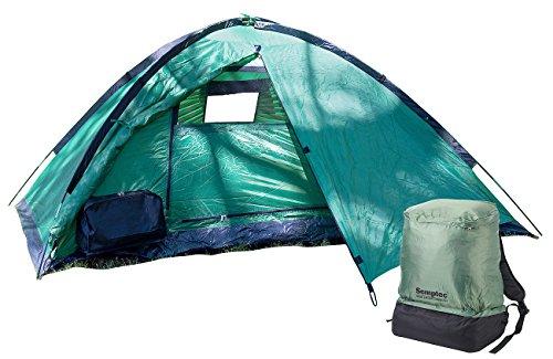 Semptec Urban Survival Technology Rucksackzelt: Ultrakompaktes Rucksack-Kuppelzelt, 2 Personen, 1.500 mm Wassersäule (Camping Zelt)